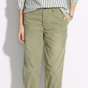 Madewell Cropped Rivington Trouser Pants - 28